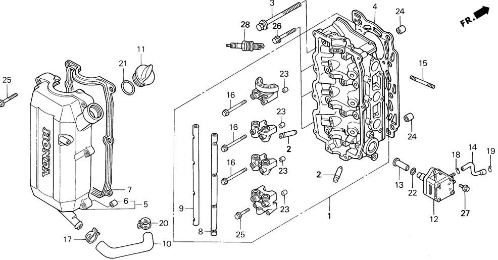 каталог запчастей для лодочных моторов хонда